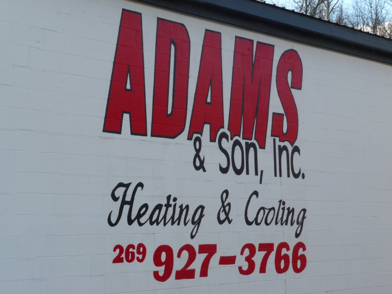 Adams and Son service your heating and cooling systems.